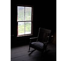 Empty Chair in Attic Photographic Print