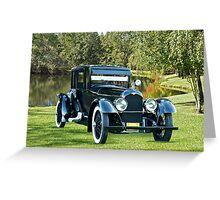 1921 Duesenberg A Bender Coupe III Greeting Card