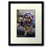 'All the better to EAT YOU WITH, my dear!' Framed Print
