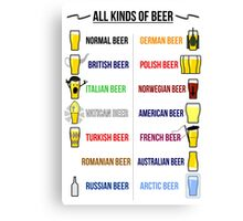 Stereotypical Beer Canvas Print