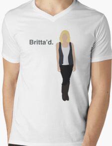 """Britta'd"" Mens V-Neck T-Shirt"