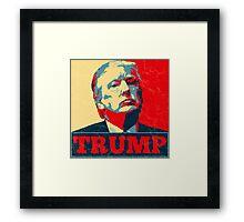 Vote TRUMP - Donald Trump in 2016 - Shepard Fairey Style - Make America Great Again Framed Print