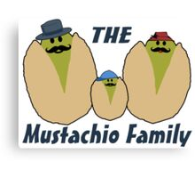 The Italian Mustachio Family Canvas Print