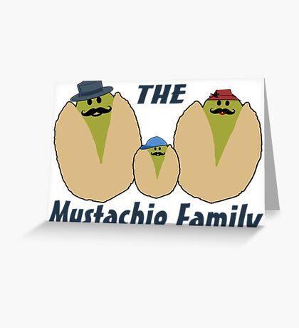 The Italian Mustachio Family Greeting Card