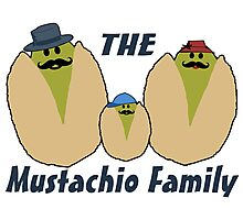 The Italian Mustachio Family Photographic Print