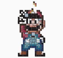 Mario victory tetris Kids Clothes