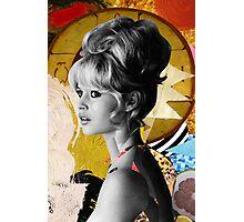 Golden Brigitte Bardot by Zabu Stewart Photographic Print