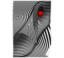 Abstract - Catch the red ball Poster