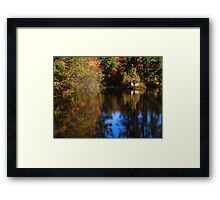 Autumn at the Swan House Framed Print