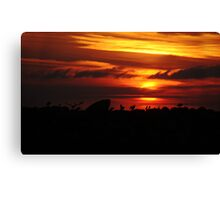 Sunset Del Rey Canvas Print