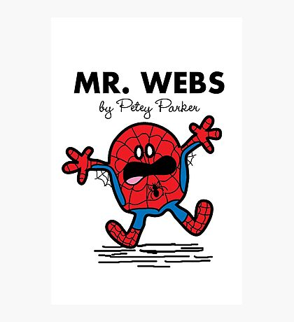 Mr Webs Photographic Print