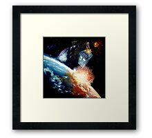 Tardis in space Framed Print