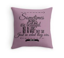 The Book Thief Quote Throw Pillow