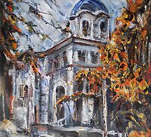 Church Yard - Autumn Afternoon by Stefano Popovski