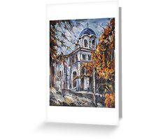 Church Yard - Autumn Afternoon Greeting Card