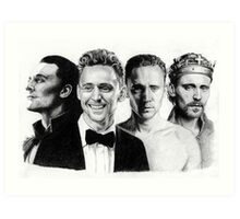 The Many Faces of Tom Hiddleston Art Print