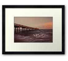 Lake Worth Pier Framed Print