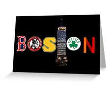 From Boston,With Love Greeting Card