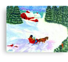 A One-Horse-Open Sleigh (For My Dad) Canvas Print