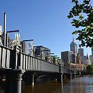 Melbourne morning - Sandridge Bridge by Helen Greenwood