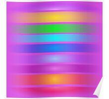 Horizontal Stripes Art Square Purple Poster