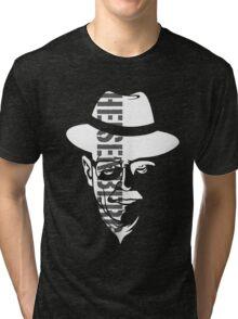 Heisenberg Breaking Bad (White on black) Tri-blend T-Shirt