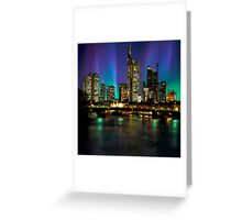 Northern Lights Hit Frankfurt (square) Greeting Card