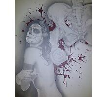 untitled #2 of 2 canvas dia de los muertos piece Photographic Print