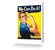 We Can Do It Vintage Woman Poster / Cards Greeting Card