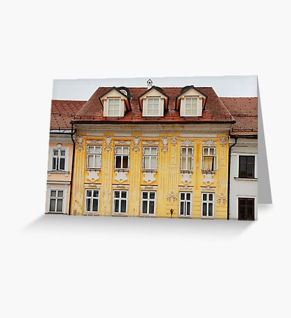 Historic Building in Kranj Greeting Card