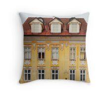 Historic Building in Kranj Throw Pillow
