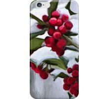 Holly Berry Digital Painting iPhone Case/Skin