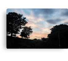 Sunset over Wythop Mill Canvas Print