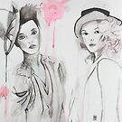 Two girls by Sonia de Macedo-Stewart