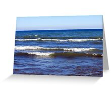 Lake Michigan Waves, Sheboygan, Wisconsin Greeting Card