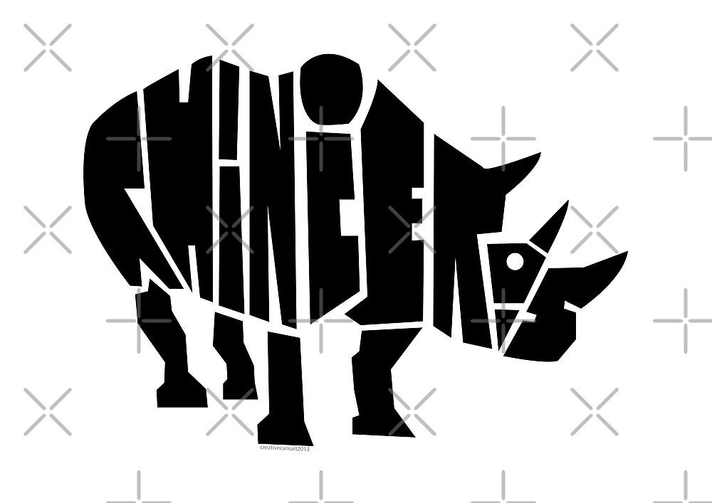 Rhinoceros  by creativecamart