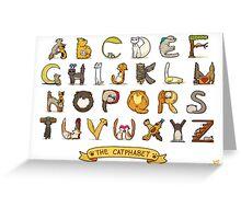 Cat Alphabet Greeting Card