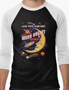 Rocket Moon Ride (vintage) Men's Baseball ¾ T-Shirt