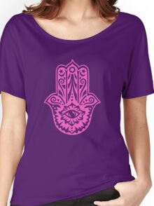 Hamsa - Hand of Fatima, protection symbol Women's Relaxed Fit T-Shirt