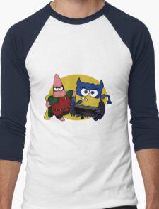 Bob Square Bats & Patrick Men's Baseball ¾ T-Shirt