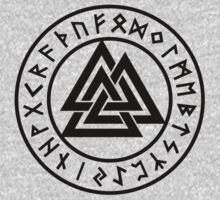 Valknut, Wotans Knot, runes by nitty-gritty