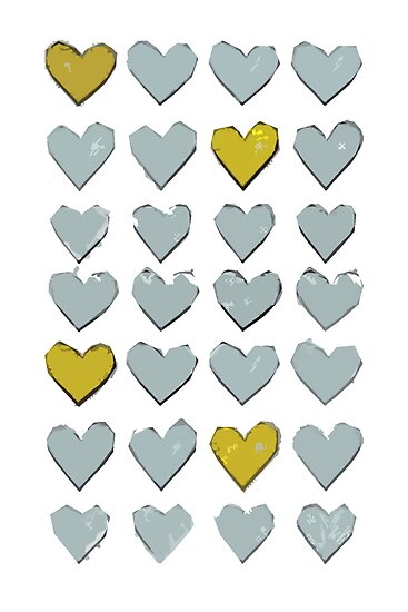 Yellow Hearts by angeliana
