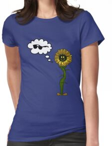 Sunflower Glasses Womens Fitted T-Shirt