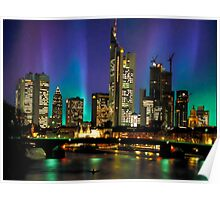 Northern Lights Hit Frankfurt (landscape) Poster