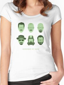 ALL HAIL HEISENBERG! Women's Fitted Scoop T-Shirt