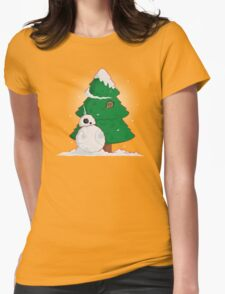 Snowdroid Womens Fitted T-Shirt