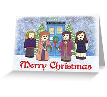 Doctor Who Christmas - 10th and 11th Doctors Greeting Card