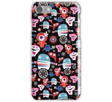 texture fun loving robots iPhone Case/Skin