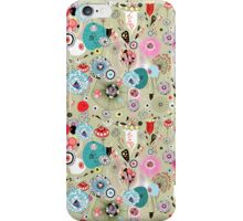 texture of unusual plants and bird lovers iPhone Case/Skin