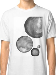 Ink Circles Abstract Art Classic T-Shirt